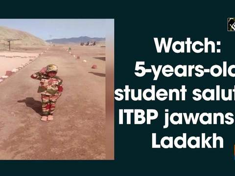 Watch: 5-years-old student salutes ITBP jawans in Ladakh
