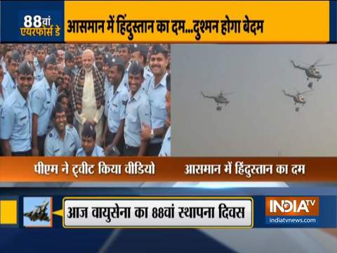 PM Modi wishes to Air Force personnel on 88th anniversary of IAF