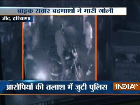 CCTV: Man shot dead by bikers in Haryana
