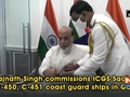 Rajnath Singh commissions ICGS Sachet C-450, C-451 coast guard ships in Goa