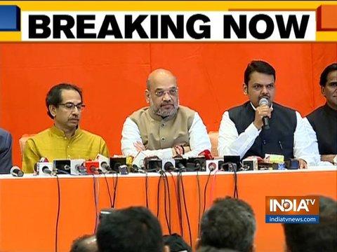 बीजेपी-शिवसेना का गठबंधन, 25 सीटों पर भाजपा और 23 पर शिवसेना लड़ेगी लोकसभा चुनाव