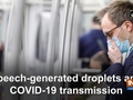 Speech-generated droplets and COVID-19 transmission