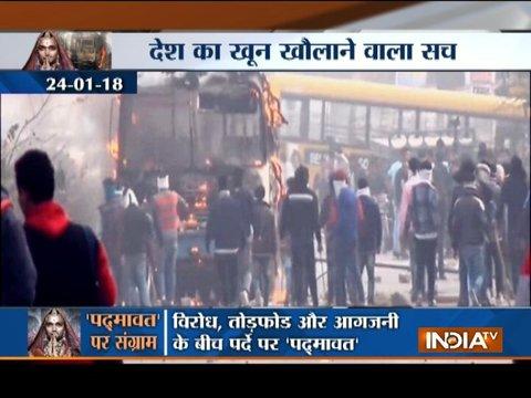 Padmaavat row: 18 arrested over school bus attack in Haryana's Gurugram