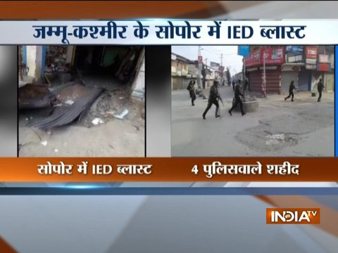 JK: Four policemen lost their lives after an IED blast by terrorists in Sopore