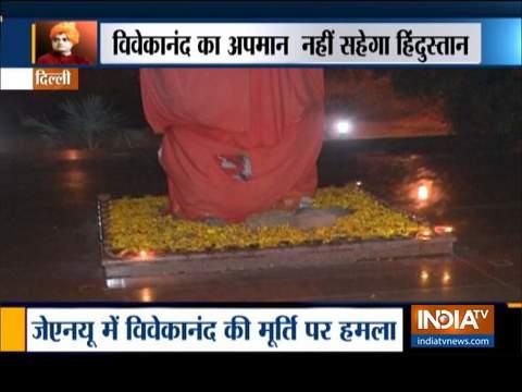 JNU में विवेकानंद की मूर्ति तोड़ने वालों के खिलाफ़ दर्ज होगी FIR