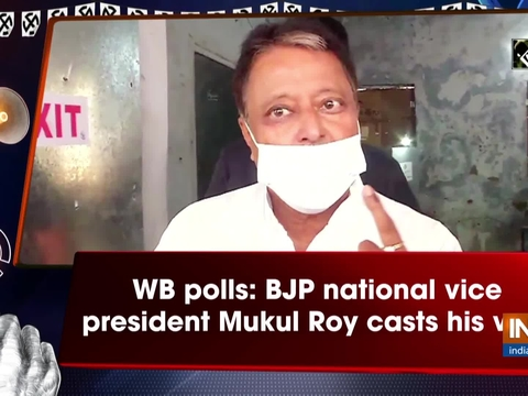 WB polls: BJP national vice president Mukul Roy casts his vote