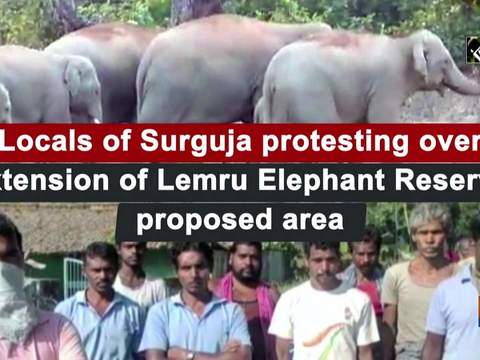 Locals of Surguja protesting over extension of Lemru Elephant Reserve proposed area