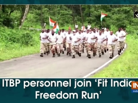 ITBP personnel join 'Fit India Freedom Run'