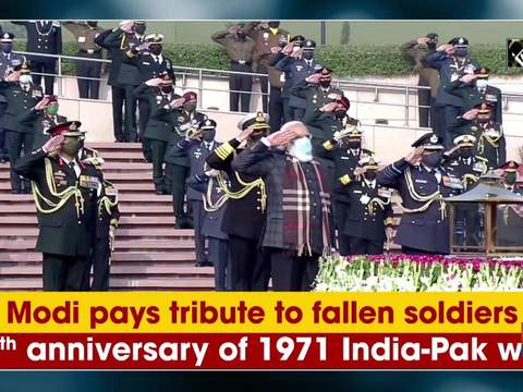 PM Modi pays tribute to fallen soldiers on 50th anniversary of 1971 India-Pak war