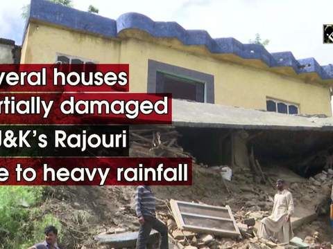 Several houses partially damaged in J&K's Rajouri due to heavy rainfall
