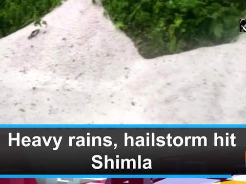 Heavy rains, hailstorm hit Shimla