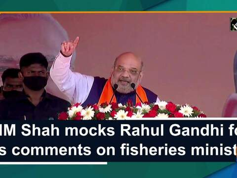 HM Shah mocks Rahul Gandhi for his comments on fisheries ministry
