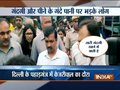 Public questions CM Kejriwal over poor supply of water, cleanliness in Pahadganj area in Delhi