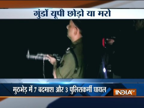 UP Police encounters with criminals in Shamli, Mathura, Ghaziabad and Saharanpur