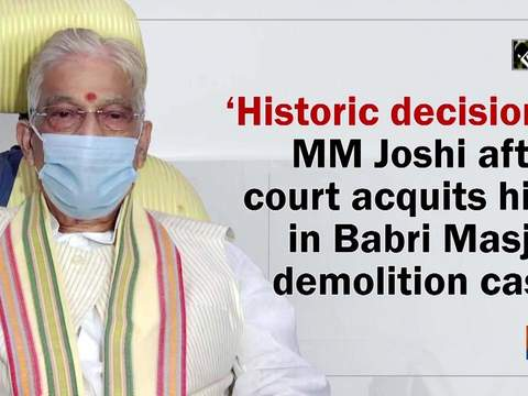 'Historic decision': MM Joshi after court acquits him in Babri Masjid demolition case