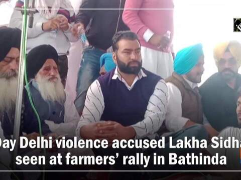 R-Day Delhi violence accused Lakha Sidhana seen at farmers' rally in Bathinda
