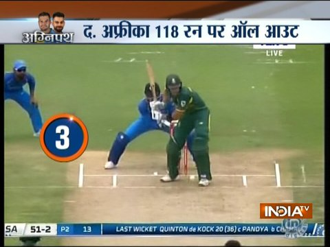 2nd ODI: Chahal-Yadav skittle out SA for lowest ODI total at home