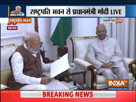 PM Modi has meet President Kovind and staked claim to form a new government