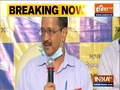 Delhi CM Arvind Kejriwal address media in Ahmedabad