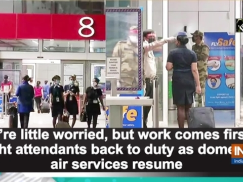 work comes first': Flight attendants back to duty as air services resume