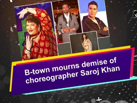 B-town mourns demise of choreographer Saroj Khan