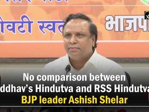 No comparison between Uddhav's Hindutva and RSS Hindutva: BJP leader Ashish Shelar