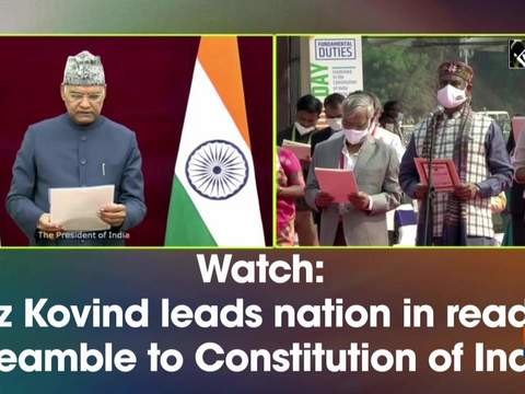 Watch: President Kovind leads nation in reading Preamble to Constitution of India