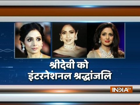 Tribute paid to veteran Bollywood actress Sridevi at the Oscars