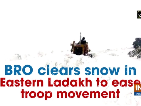 BRO clears snow in Eastern Ladakh to ease troop movement