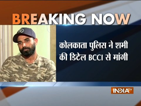 Kolkata Police request details of Mohammed Shami from BCCI