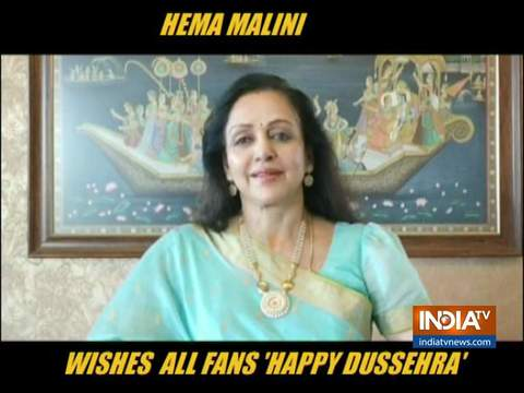 Hema Malini extends Dussehra wishes to fans