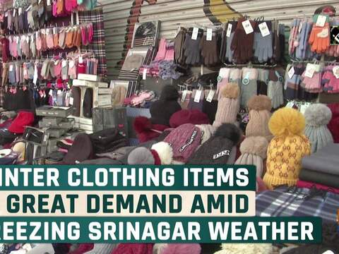 Winter clothing items in great demand amid freezing Srinagar weather