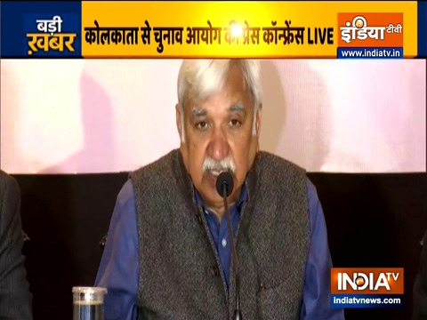 West Bengal Election 2021: CEC Sunill Arora hold a press conference in Kolkata