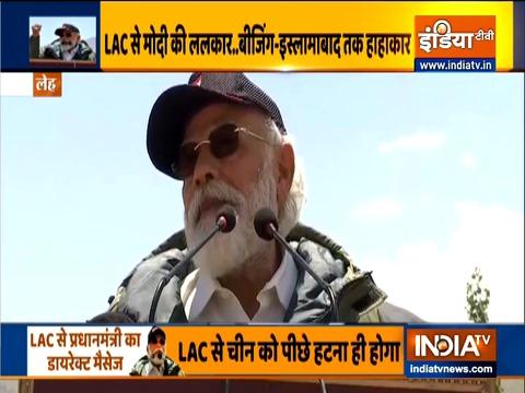 Kurukshetra: PM Modi meets jawans in Ladakh