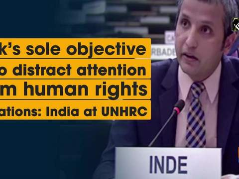 Pak's sole objective is to distract attention from human rights violations: India at UNHRC