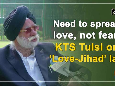 Need to spread love, not fear: KTS Tulsi on 'Love-Jihad' law