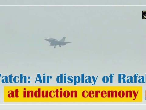 Watch: Air display of Rafale at induction ceremony
