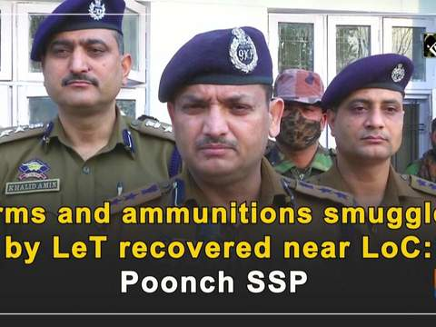 Arms and ammunitions smuggled by LeT recovered near LoC: Poonch SSP