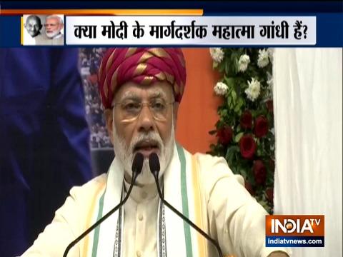 Kurukshetra: PM Modi pays tribute to Mahatma Gandhi at the Sabarmati Ashram in Ahmedabad