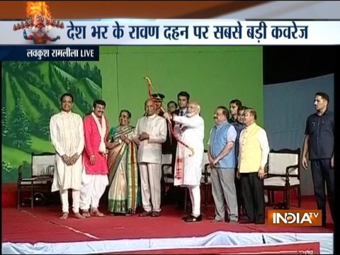Dussehra 2018: President Kovind, PM Modi lead celebrations at Delhi's Ramlila Maidan