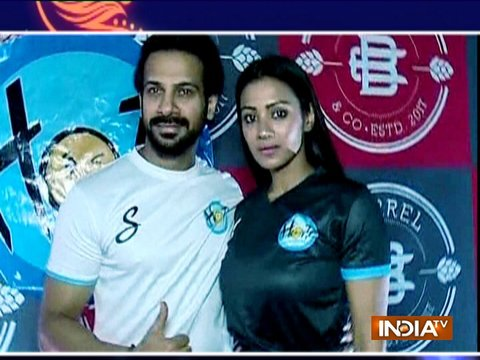 Barkha Bisht and Karanveer in a web series