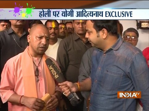 Exclusive: UP CM Yogi Adityanath says, Holi symbolizes nationalism for me
