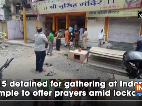 15 detained for gathering at Indore temple to offer prayers amid lockdown