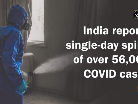 India reports single-day spike of over 56,000 COVID cases