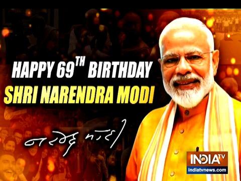 प्रधानमंत्री नरेंद्र मोदी का 69वां जन्मदिन आज
