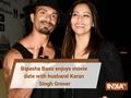 Pics: Bipasha Basu is all smiles with husband Karan Singh Grover at sister Vijayeta's wedding party