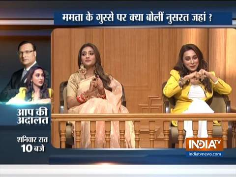 TMC MPs Nusrat Jahan and Mimi Chakraborty talk about religion and politics in Aap Ki Adalat
