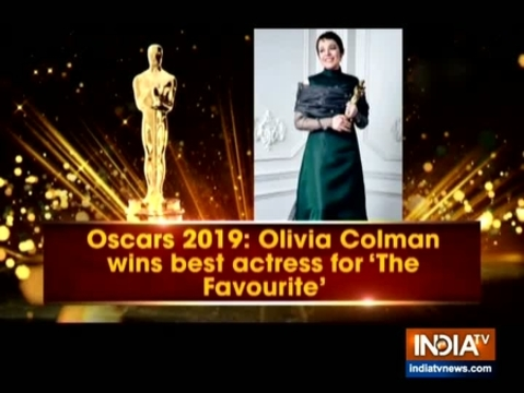 Oscars 2019: Olivia Colman wins Best Actress for film The Favourite
