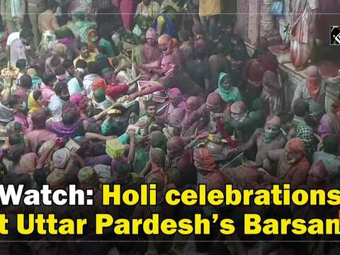 Watch: Holi celebrations at Uttar Pardesh's Barsana