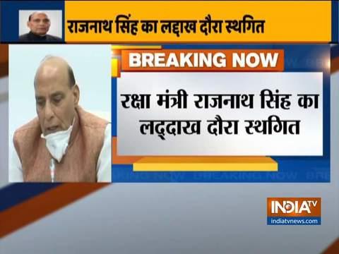 रक्षा मंत्री राजनाथ सिंह का लेह दौरा स्थगित